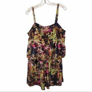 St. Tropez Colorful Metallic Swimsuit Dress 22W